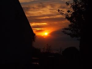 suddenly sunset